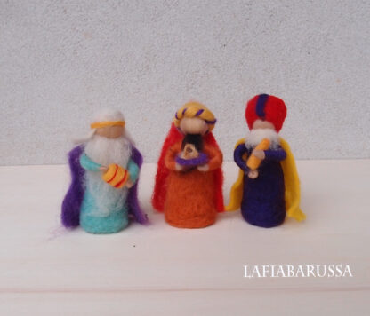 Felted kings 3 pieces