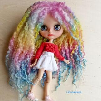 rainbow doll hair