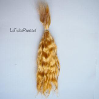 golden blonde mohair hair
