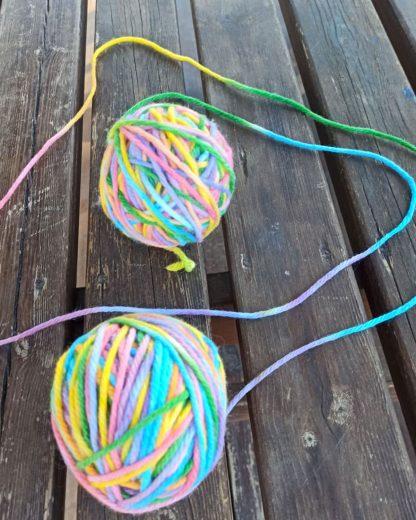 Rainbow bulky yarn