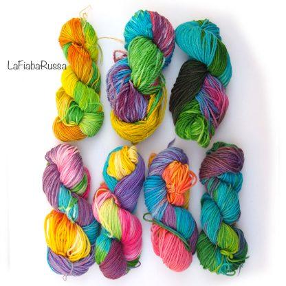 rainbow wool yarn